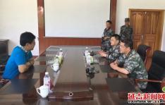 朝阳川镇党委书记池龙云节前慰问部队官兵